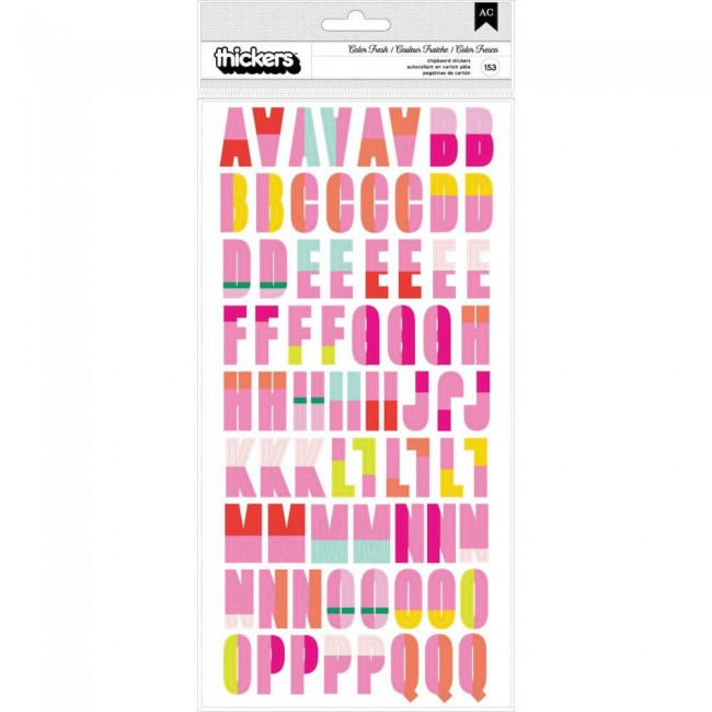 Thickers Color Fresh Alphabet