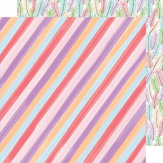 Papier Imprimé Recto-verso 12x12 Stay Sweet Candy Stripe