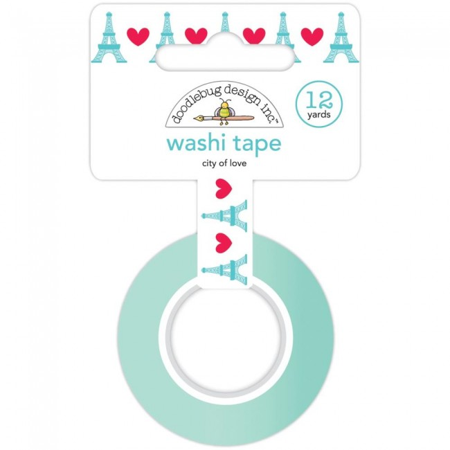 Washi Tape French Kiss City Of Love