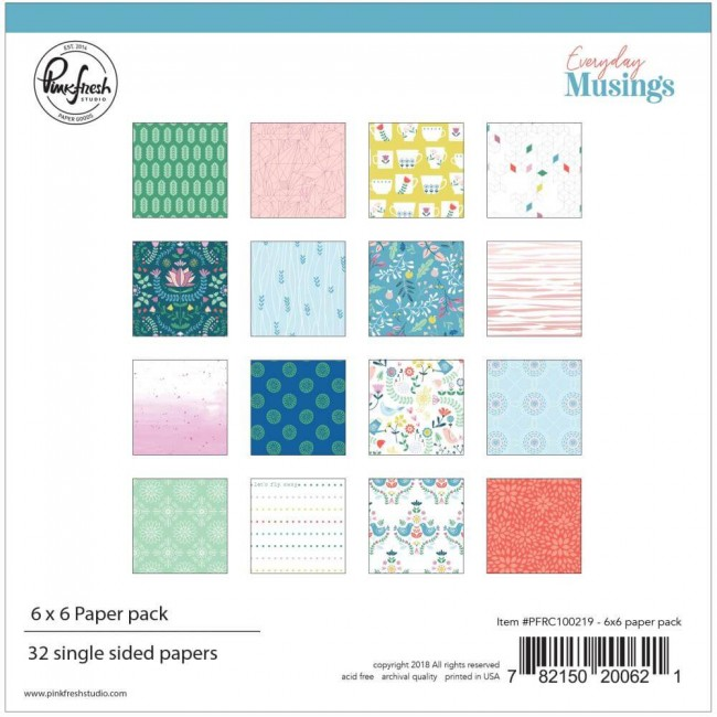 Stack Papiers Imprimés Recto 6x6 Everyday Musings