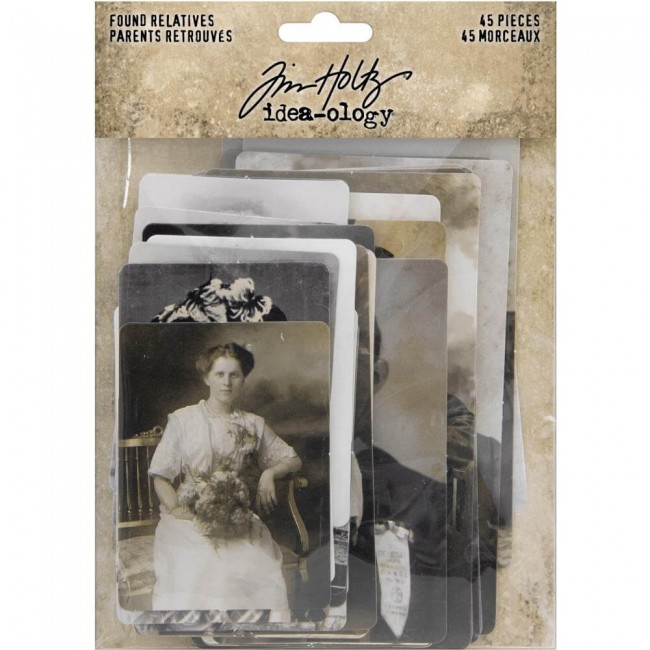 Die Cuts Idea-ology Found Relative Vintage Portraits