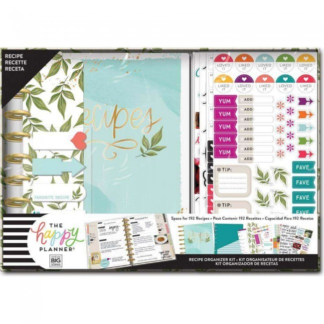 Kit Happy Planner Moyen Recipe Foodie