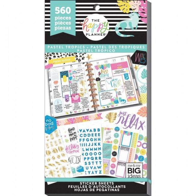 Carnet d'autocollants Value Pack Create 365 Pastel Tropics