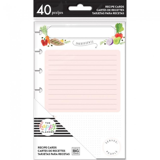 Insert pour Happy Planner Mini Create 365 Recipe Cards