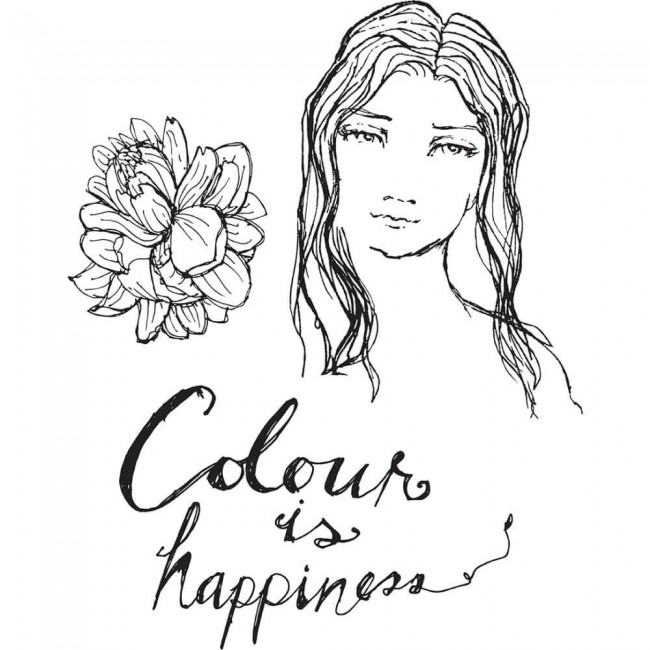 Tampon Acrylique Color Is Happiness