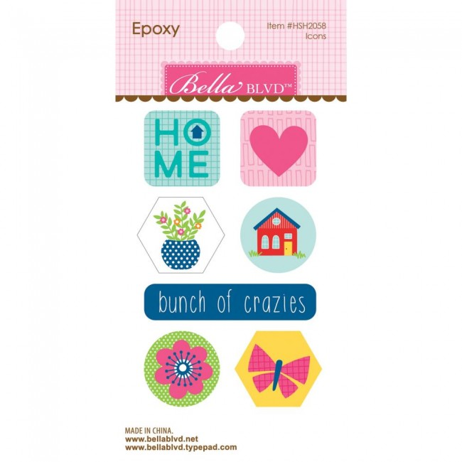 Autocollants Époxy Home Sweet Home Icons
