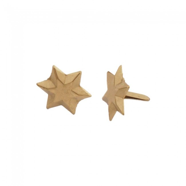 Attaches Parisiennes Brushed Gold 6 Point Star