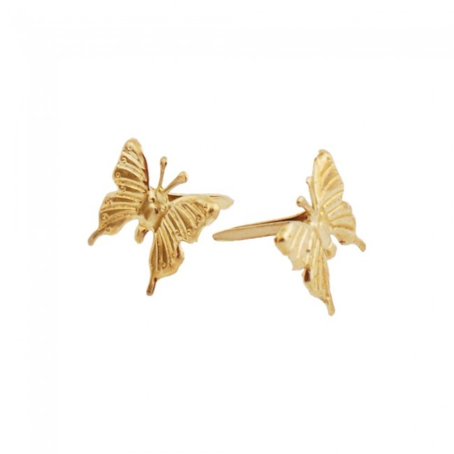 Attaches Parisiennes Gold Butterfly