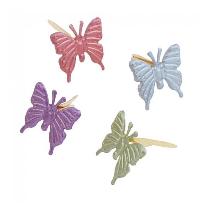 Attaches Parisiennes Butterfly Pearl