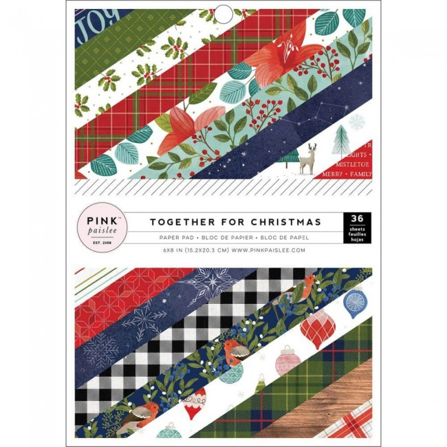 Stack Papiers Imprimés Recto 6x8 Together For Christmas