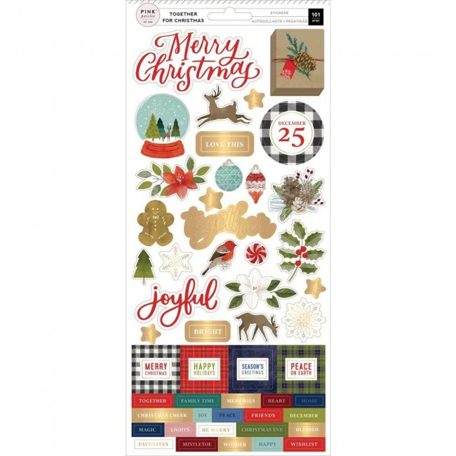 Autocollants 6x12 Together For Christmas Accents & Phrases