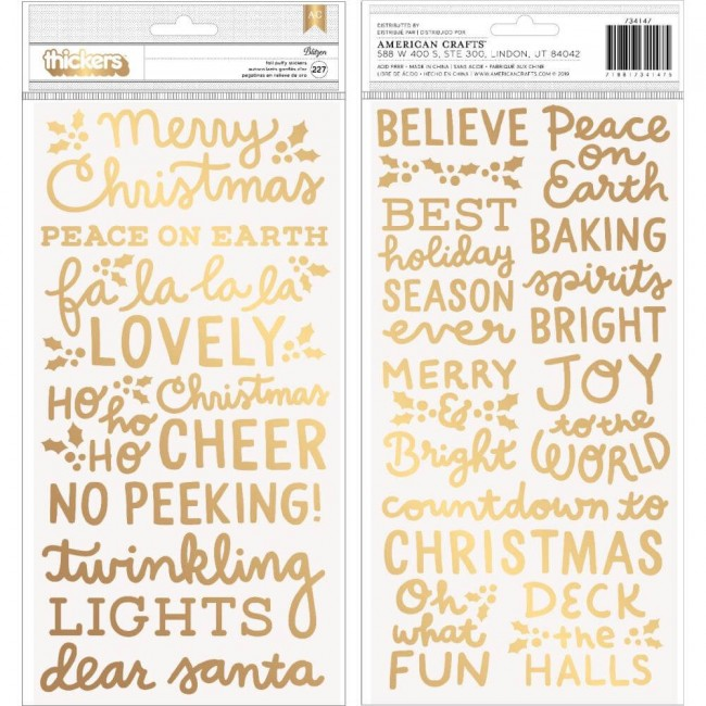 Thickers Merry Little Christmas Phrase & Icons
