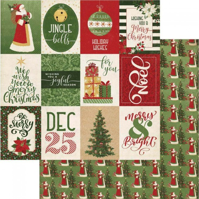 Papier Imprimé Recto-verso 12x12 Christmas Memories Joyful Season