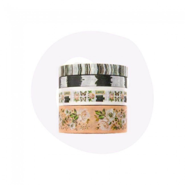 Lot de Washi Tape Apricot Honey