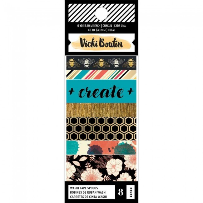 Lot de Washi Tape Wild Flower & Honey Vicki Boutin
