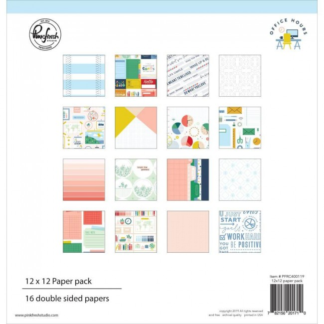 Stack Papiers Imprimés 12x12 Office Hours