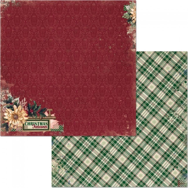 Papier Imprimé Recto-verso 12x12 Christmas Treasures Christmas Treasures