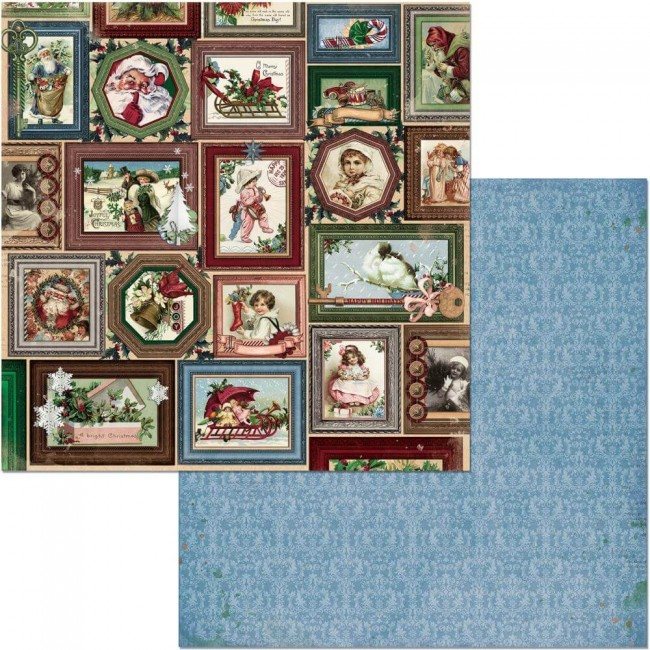Papier Imprimé Recto-verso 12x12 Christmas Treasures Joyful
