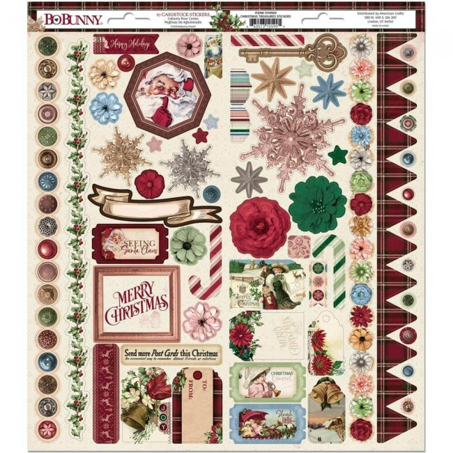 Autocollants 6x12 Christmas Treasures