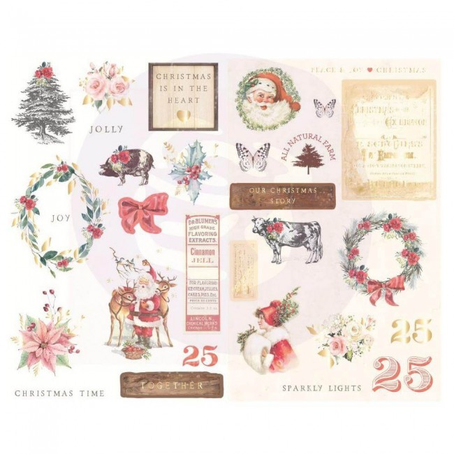 Chipboard Christmas In The Country Icons W/Foil Accents