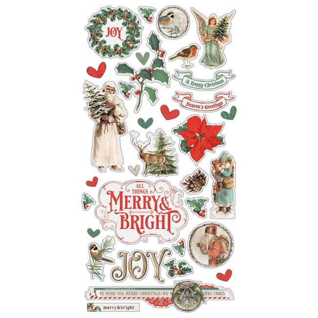 Chipboard 6x12 Country Christmas