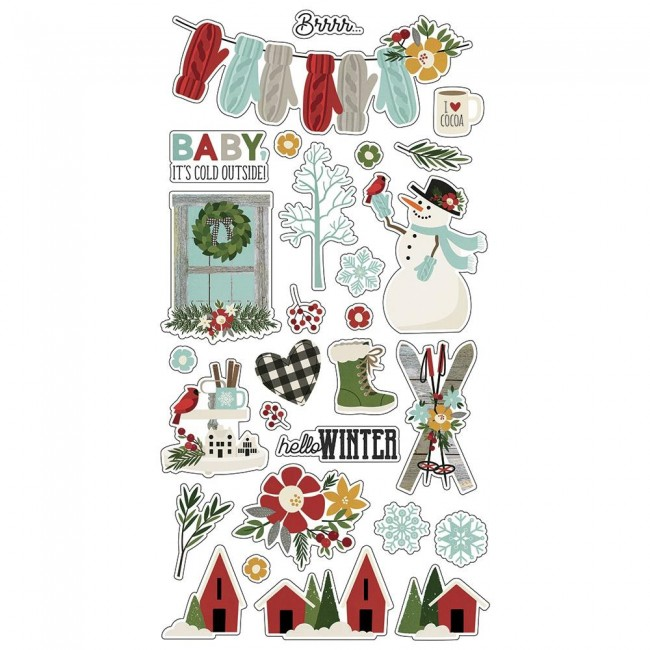 Chipboard 6x12 Winter Farmhouse