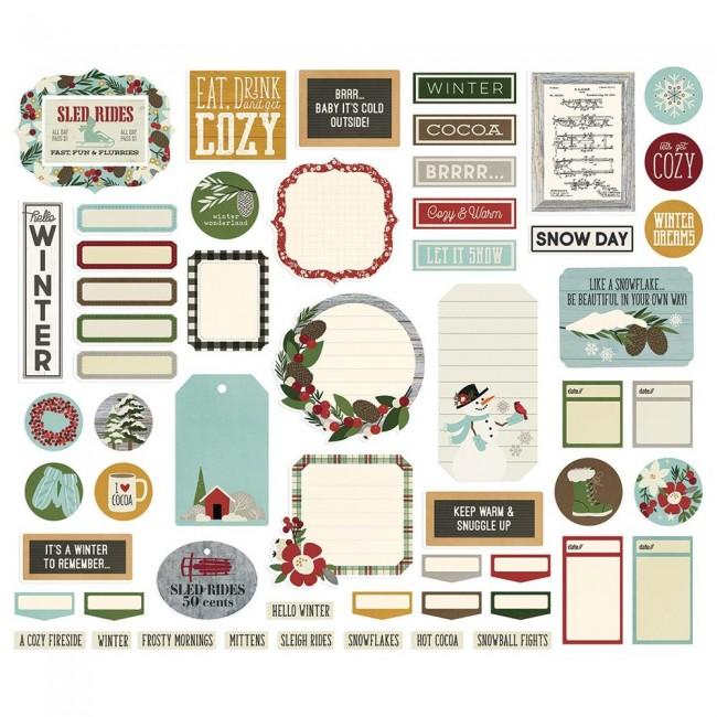 Die Cuts Winter Farmhouse Bits & Pieces Journal