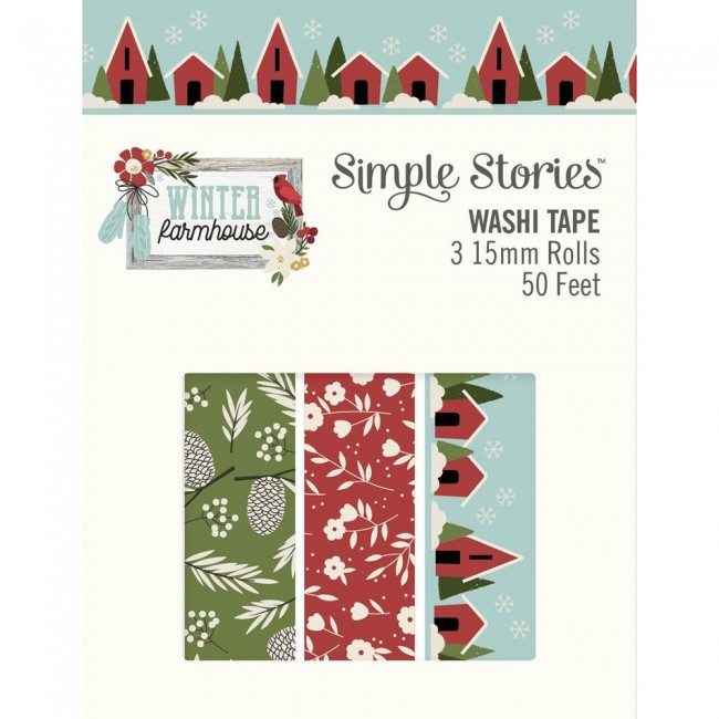 Lot de Washi Tape Winter Farmhouse