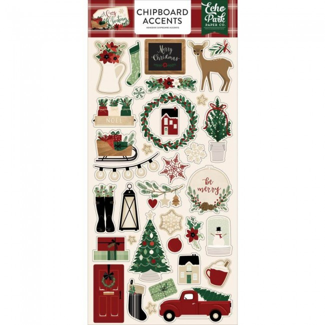 Chipboard 6x13 A Cozy Christmas Accents