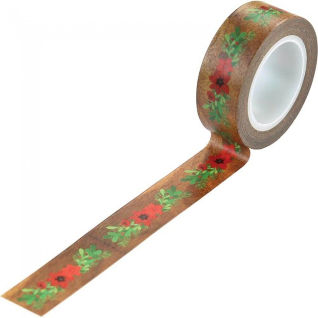 Washi Tape A Cozy Christmas Floral Swag