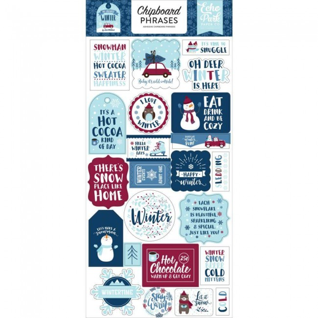 Chipboard 6x13 My Favorite Winter Phrases