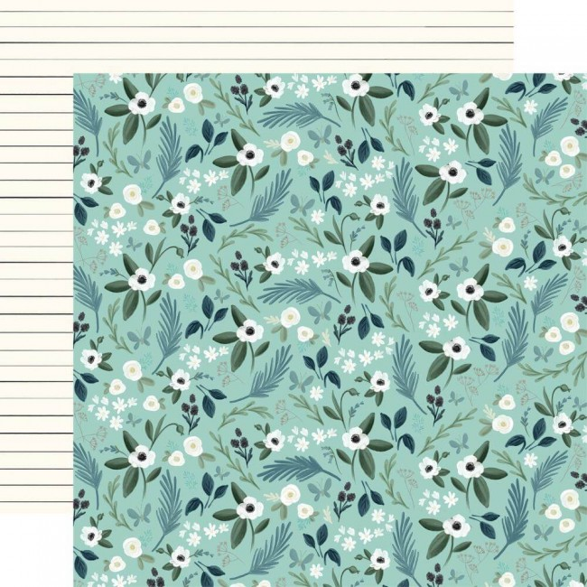 Papier Imprimé Recto-verso 12x12 Home Again Lovely Floral
