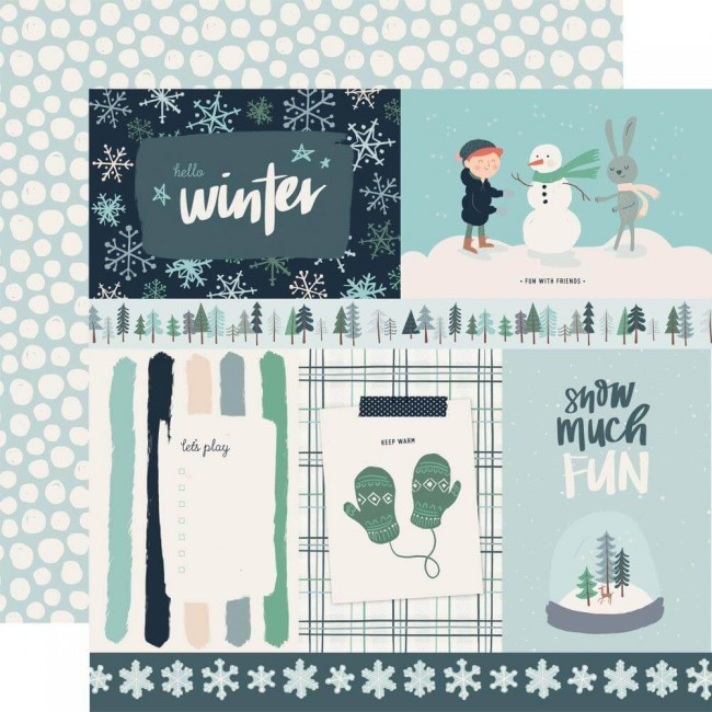 "Papier Imprimé Recto-verso 12x12 Snow Much Fun 4""X6"" Journaling Cards"