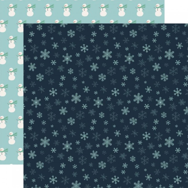Papier Imprimé Recto-verso 12x12 Snow Much Fun Snowflakes
