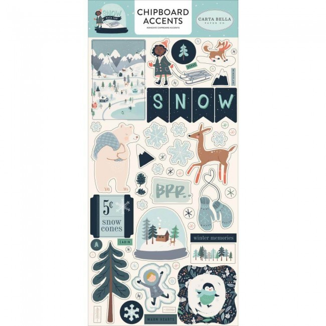 Chipboard 6x13 Snow Much Fun Accents
