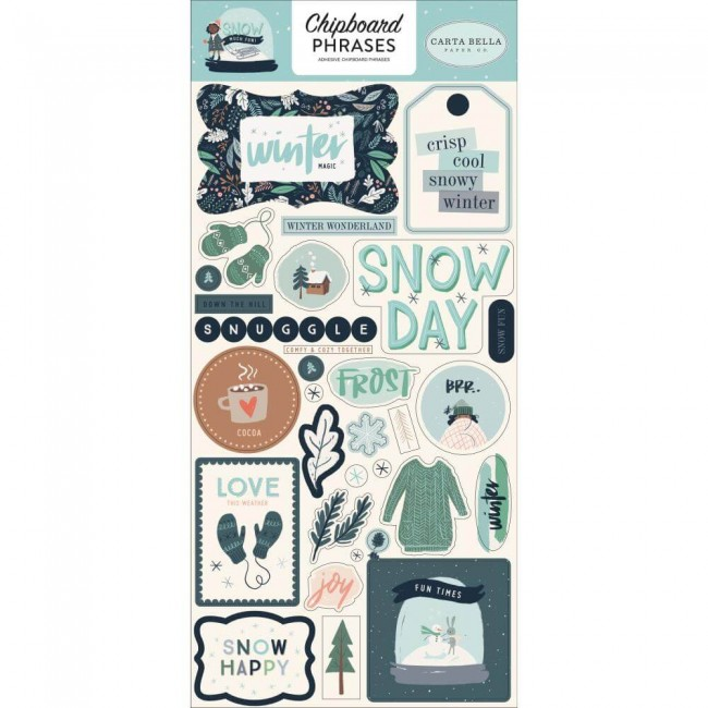 Chipboard 6x13 Snow Much Fun Phrases