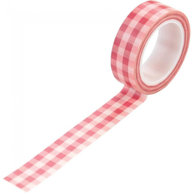 Washi Tape Salon Pink Buffalo Plaid