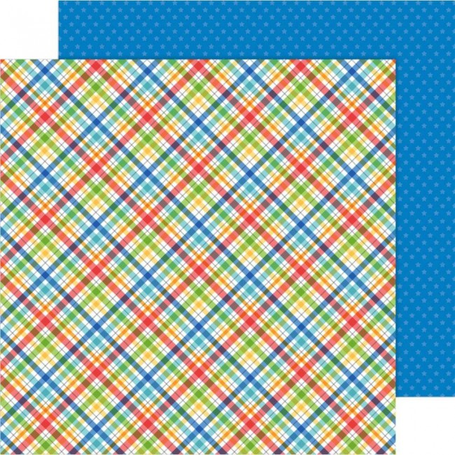Papier Imprimé Recto-verso 12x12 School Days Playground Plaid