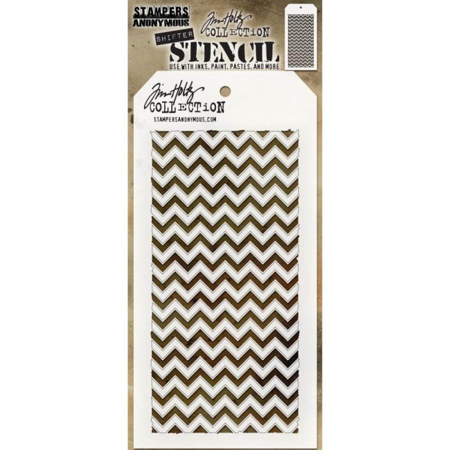 Pochoir Shifter Chevron Tim Holtz