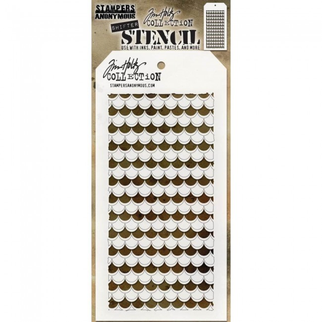 Pochoir Shifter Scallop Tim Holtz