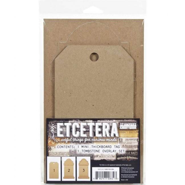 Chipboard Etcetera Tombstone Overlay Mini Tim Holtz
