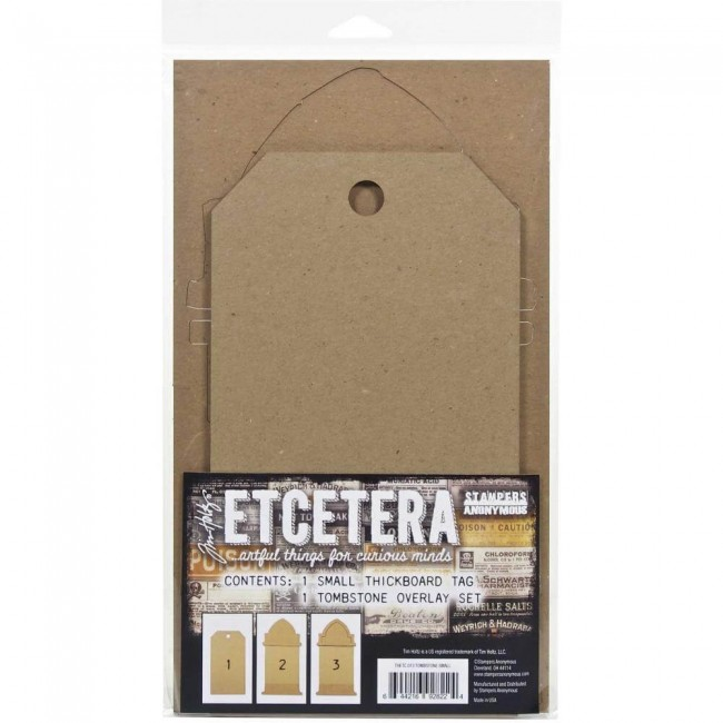 Chipboard Etcetera Tombstone Overlay Small Tim Holtz