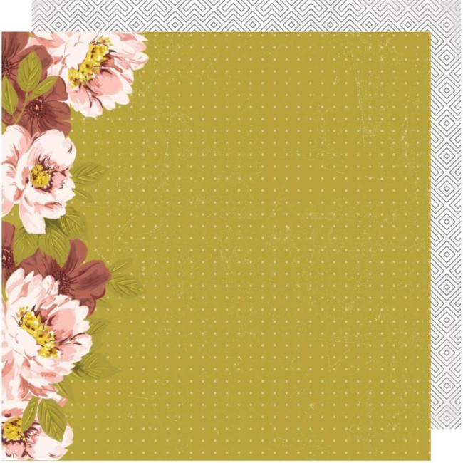Papier Imprimé Recto-verso 12x12 Honey & Spice Wallflower