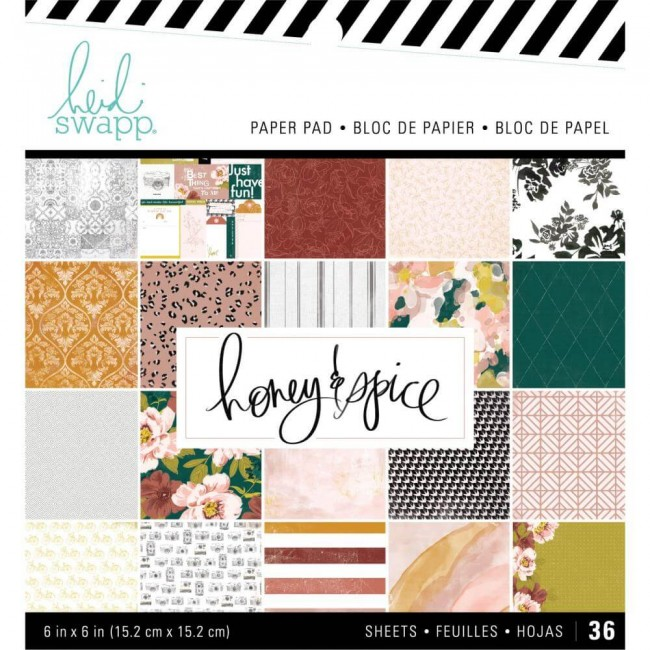 Stack Papiers Imprimés Recto 6x6 Honey & Spice