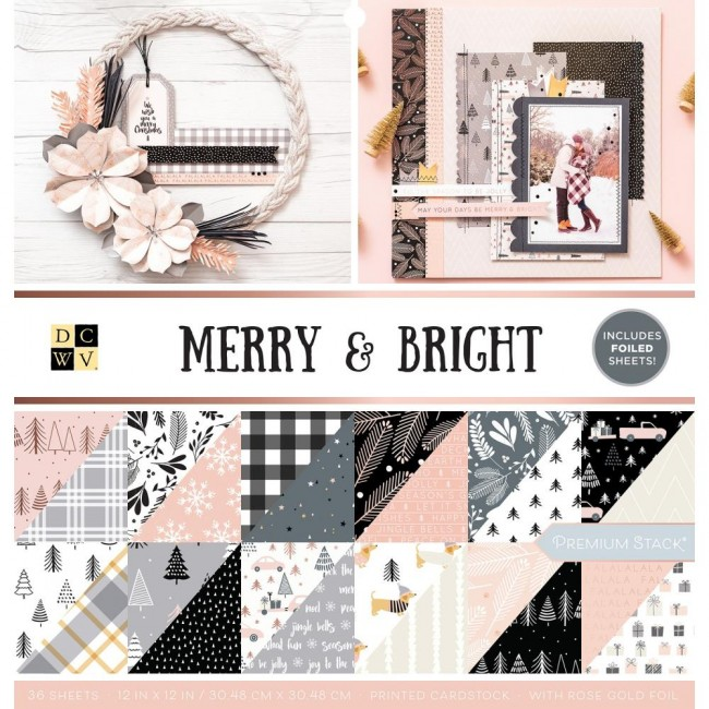 Stack Papiers Imprimés 12x12 Merry & Bright