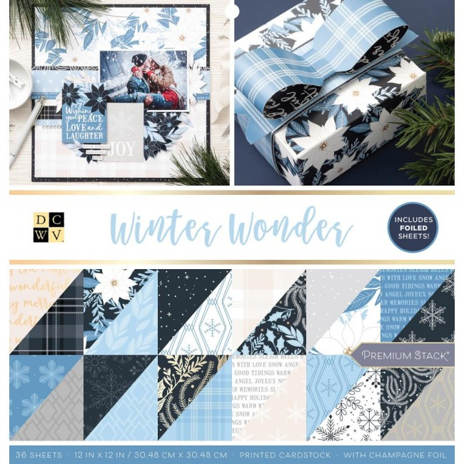 Stack Papiers Imprimés 12x12 Winter Wonderland