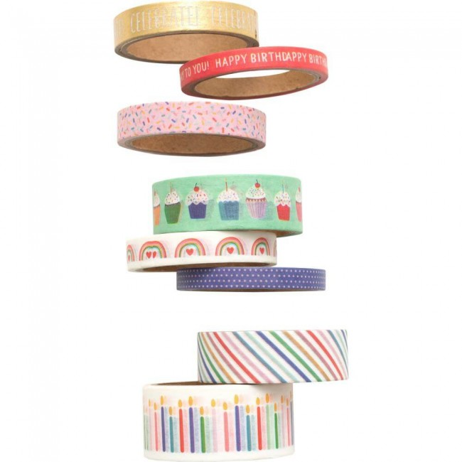 Lot de Washi Tape Happy Cake Day