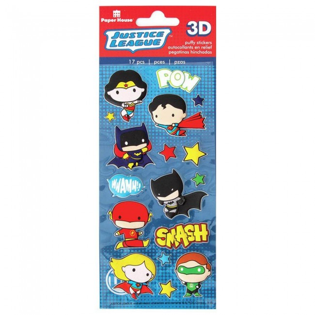 Autocollants Puffy Justice League Chibi Héros