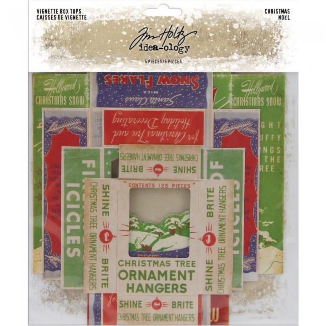 Die Cuts Idea-ology Christmas Vignette Box Tops Tim Holtz