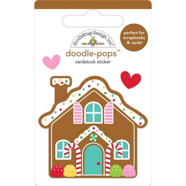 Autocollants 3D Christmas Magic Cookie Cottage